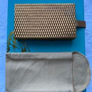 Vintage Evans gold compact clutch purse